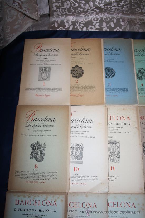 Libros de segunda mano: 1963- 'BARCELONA - DIVULGACIÓN HISTÓRICA' 22 FASCÍCULOS ED. AYMA DIR. DURÁN Y SANPERE BARCELONA - Foto 2 - 30094615