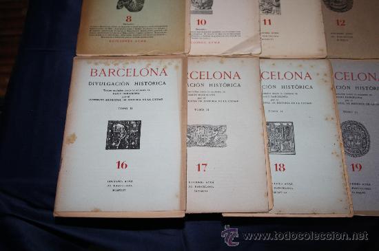 Libros de segunda mano: 1963- 'BARCELONA - DIVULGACIÓN HISTÓRICA' 22 FASCÍCULOS ED. AYMA DIR. DURÁN Y SANPERE BARCELONA - Foto 4 - 30094615