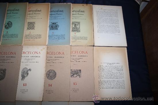 Libros de segunda mano: 1963- 'BARCELONA - DIVULGACIÓN HISTÓRICA' 22 FASCÍCULOS ED. AYMA DIR. DURÁN Y SANPERE BARCELONA - Foto 6 - 30094615