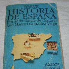 Libros de segunda mano: BREVE HISTORIA DE ESPAÑA - ALIANZA EDITORIAL. Lote 31148247
