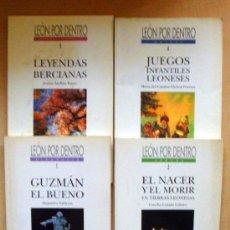 Libros de segunda mano: LEÓN POR DENTRO 5 LIBROS GUZMÁN EL BUENO, LEYENDAS BERCIANAS, JUEGOS INFANTILES, EL NACER Y EL MORIR. Lote 31256990