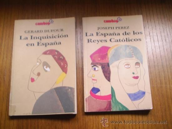 LA INQUISICION EN ESPAÑA Y LA ESPAÑA DE LOS REYES CATOLICOS - 1992 - 127 PAGINAS LOS DOS IGUAL (Libros de Segunda Mano - Historia Antigua)