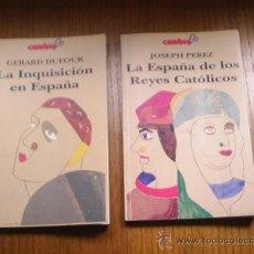 Libros de segunda mano: LA INQUISICION EN ESPAÑA Y LA ESPAÑA DE LOS REYES CATOLICOS - 1992 - 127 PAGINAS LOS DOS IGUAL. Lote 31791919