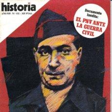 Libros de segunda mano: REVISTA HISTORIA 16 - Nº 132 - LA CRISIS DE SALAMANCA: ASI CAYO HEDILLA-ABRIL 1987. Lote 31842285