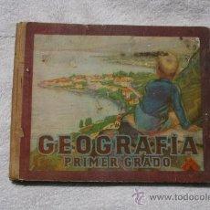 Libros de segunda mano: GEOGRAFÍA PRIMER GRADO. ILUSTRACIONES EN COLOR. TAPAS DURAS. EDITORIAL LUIS VIVES. 1950. Lote 32009032