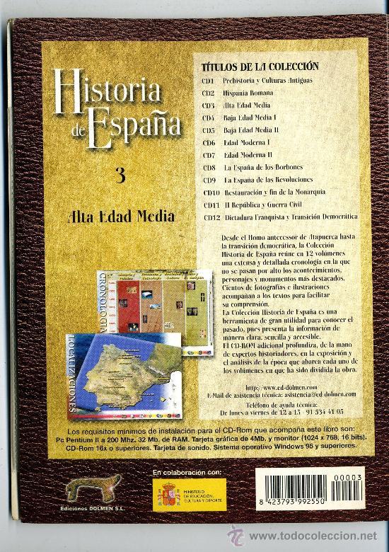Libros de segunda mano: HISTORIA DE ESPAÑA Nº 3 ALTA EDAD MEDIA LIBRO CON DC ROM - Foto 2 - 32636752