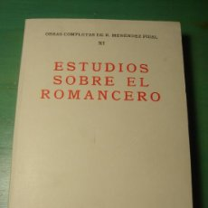 Libros de segunda mano: ESTUDIOS SOBRE EL ROMANCERO. MENENDEZ PIDAL. Lote 32854799