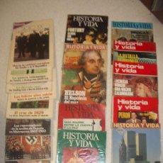 Libros de segunda mano: LOTE 17 REVISTAS HISTORIA. HISTORIA Y VIDA. HISTORIA SIGLO XX. TIEMPO DE HISTORIA.. Lote 33897674
