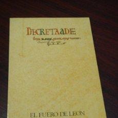 Libros de segunda mano: EL FUERO DE LEON. (COMENTARIOS) SEMINARIO DE HISTORIA MEDIEVAL DE ESPAÑA. Lote 35296091