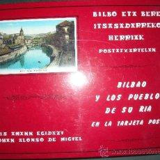 Libros de segunda mano: BILBAO Y LOS PUEBLOS DE SU RIA EN LA TARJETA POSTAL DE LUIS AMMAN Y ROMAN ALONSO AÑO 1990. Lote 36151232