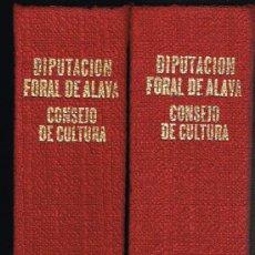 Libros de segunda mano: ALAVA MEDIEVAL - GONZALO MARTÍNEZ DÍEZ - DOS TOMOS 1974 - EJEMPLAR NUMERADO. Lote 36168506