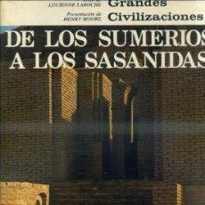 Libros de segunda mano: DE LOS SUMERIOS A LOS SASÁNIDAS (MAS IVARS, 1971). Lote 39283689