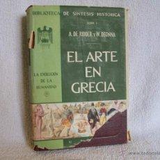 Libros de segunda mano: EL ARTE EN GRECIA, A. DE RIDDER/W. DEONNA, ED UTEHA - Nº 13.( AZ L1. Lote 40338921
