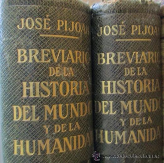 Libros de segunda mano: 2 tomos breviario de la historia del mundo y de la humanidad - según José Pijoan - 1955 - Foto 2 - 40465943