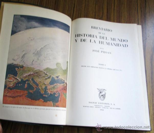 Libros de segunda mano: 2 tomos breviario de la historia del mundo y de la humanidad - según José Pijoan - 1955 - Foto 5 - 40465943