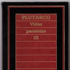 Libros de segunda mano: BIBLIOTECA DE HISTORIA ORBIS, Nº 82 - PLUTARCO - VIDAS PARALELAS III. Lote 40482401