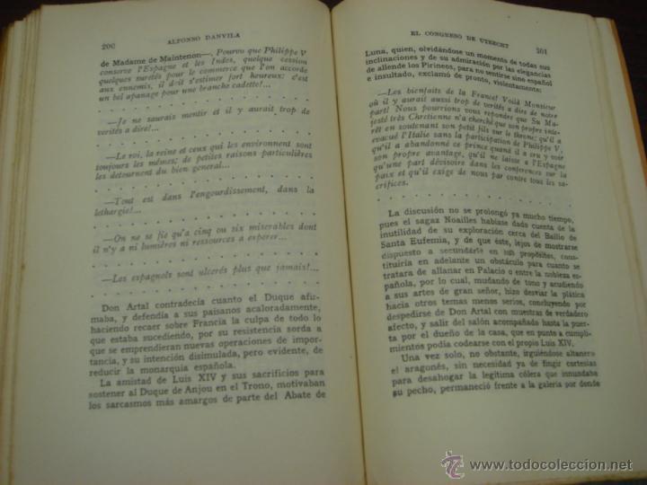 Libros de segunda mano: EL CONGRESO DE UTRECHT. 1946. COL. LUCHAS FRATICIDAS DE ESPAÑA. 2 TOMOS. 4ª EDICIÓN. - Foto 4 - 41640884