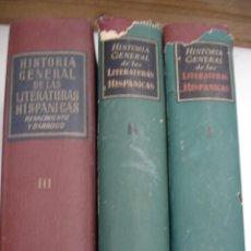 Libros de segunda mano: HISTORIA GENERAL DE LAS LITERATURAS HISPANICAS. Lote 42410699