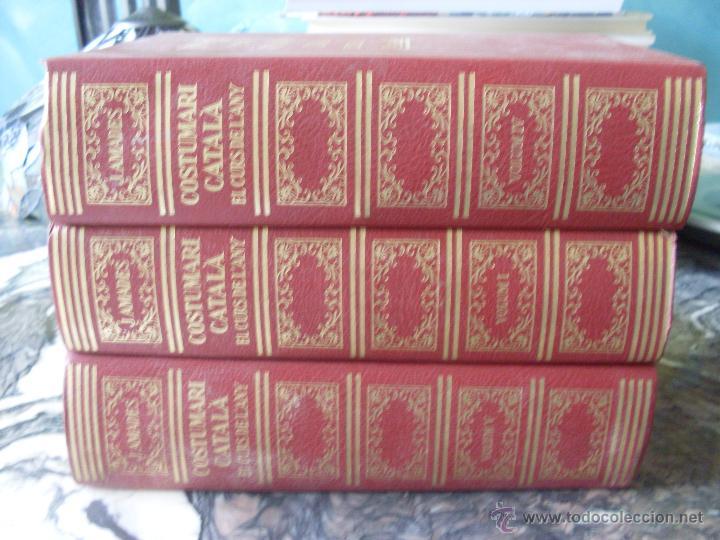 COSTUMARI CATALA (JOAN AMADES 1982 ) VOL I - IV Y V (EN1E) (Libros de Segunda Mano - Historia Antigua)