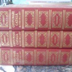 Libros de segunda mano: COSTUMARI CATALA (JOAN AMADES 1982 ) VOL I - IV Y V (EN1E). Lote 43387046