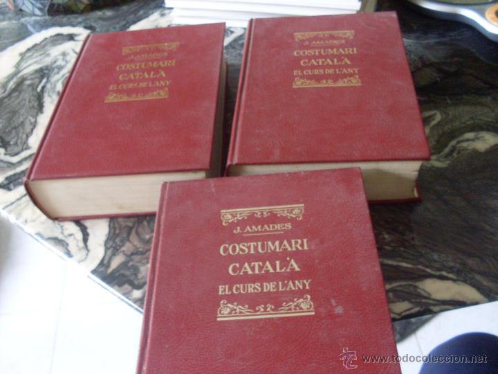 Libros de segunda mano: COSTUMARI CATALA (JOAN AMADES 1982 ) VOL I - IV Y V (EN1E) - Foto 2 - 43387046