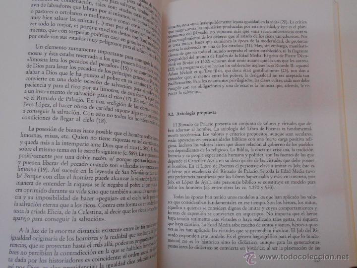 Libros de segunda mano: EL RIMADO DE PALACIO: UNA VISIÓN DE LA SOCIEDAD ENTRE EL TESTIMONIO Y EL TÓPICO. I. GONZALEZ. TDK188 - Foto 2 - 136338940
