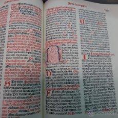 Libros de segunda mano: LIBRO FACSIMIL VICENT GARCIA EDITORES, MISSALE IUXTA MOREM ET...., INCUNABLE 1492 , ORIGINAL. Lote 44451462