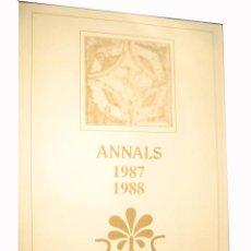 Libros de segunda mano: ANNALS 1987-1988 DOCUMENTOS HISTÓRICOS PARA EL ESTUDIO DEL REPARTIMENT Y REPOBLACIÓN DE L'HORTA.. Lote 3506195