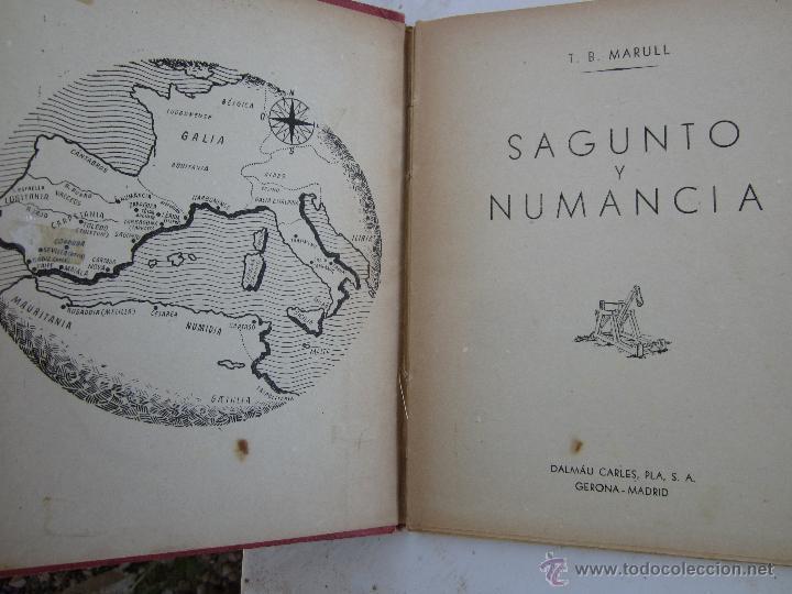Libros de segunda mano: sagunto y numancia , libro de lectura escolar - dalmau carles - Foto 2 - 46228597