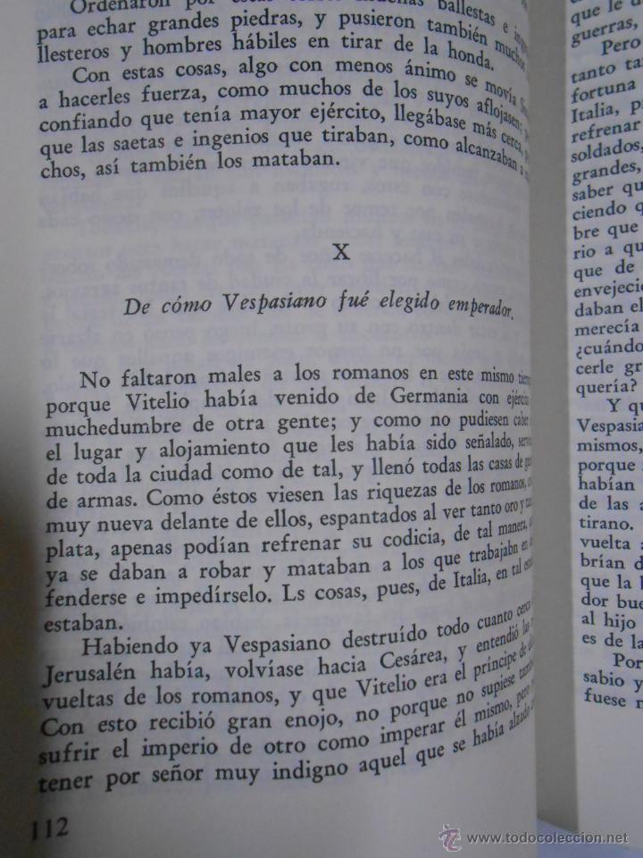 Libros de segunda mano: LAS GUERRAS DE LOS JUDIOS. 2 TOMOS. COMPLETO. FLAVIO JOSEFO. TDK212 - Foto 2 - 46544000