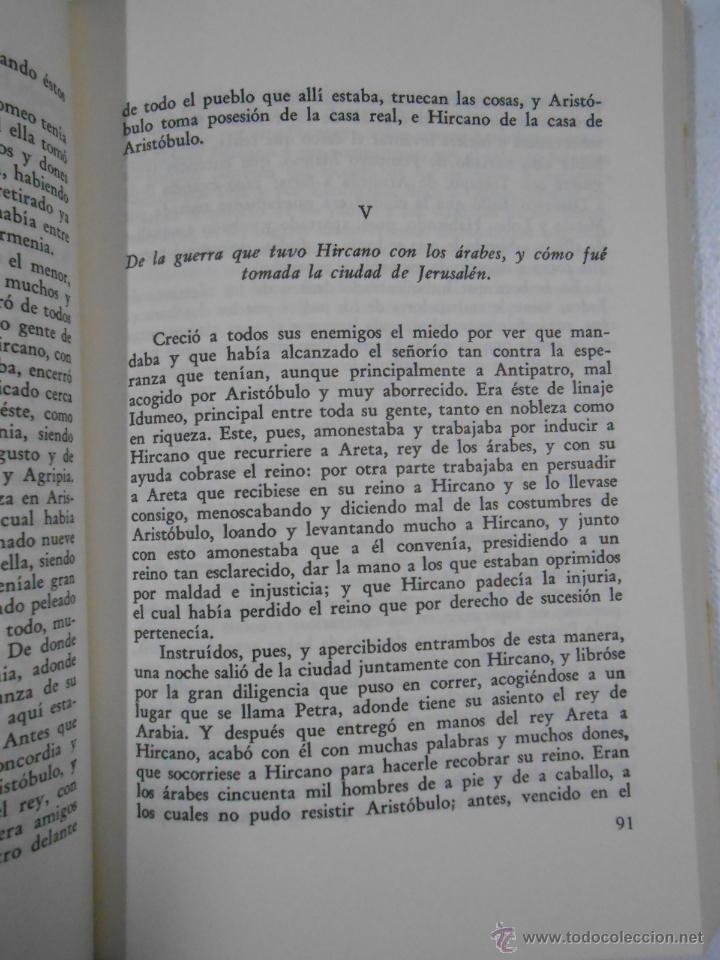 Libros de segunda mano: LAS GUERRAS DE LOS JUDIOS. 2 TOMOS. COMPLETO. FLAVIO JOSEFO. TDK212 - Foto 3 - 46544000