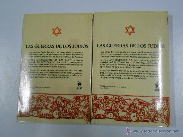 Libros de segunda mano: LAS GUERRAS DE LOS JUDIOS. 2 TOMOS. COMPLETO. FLAVIO JOSEFO. TDK212 - Foto 4 - 46544000
