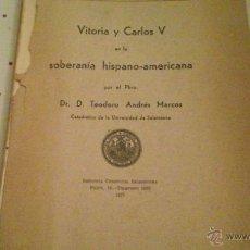 Libros de segunda mano: VITORIA Y CARLOS V. Lote 46955056