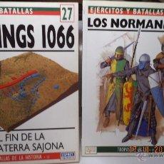 Libros de segunda mano: LOTE 2 LIBROS OSPREY HISTORIA MILITAR MEDIEVAL HASTINGS NORMANDOS. Lote 48637527