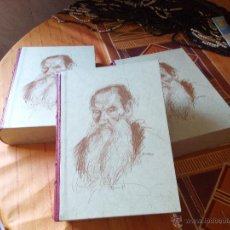 Libros de segunda mano: LÉON TOLSTOÏ GUERRE ET PAIX, 3 VOLUMENES DE LUJO.BORDE DE LAS HOJAS DE ORO PURO. Lote 50483862