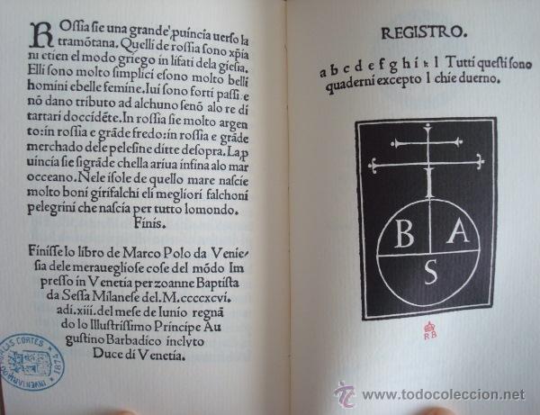 Libros de segunda mano: Delle cose maravigliose del mondo, de Marco Polo, incunable de Venecia 1496 - Foto 3 - 51928724