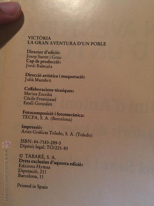 Libros de segunda mano: Antiguo libro Vicòria la gran aventura de un poble un film d'Antoni Ríbas, años 80 - Foto 2 - 52315683