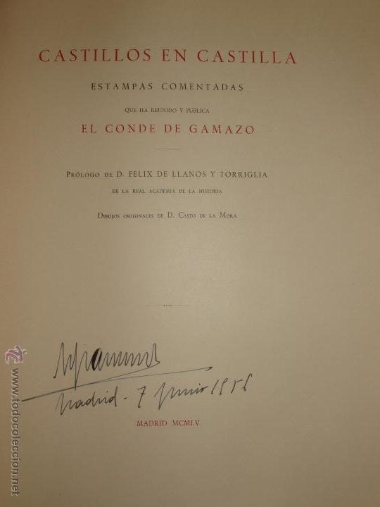 Libros de segunda mano: CASTILLOS EN CASTILLA DEL CONDE DE GAMAZO. AÑO 1955. MUY ILUSTRADO. ENVIO GRATUITO - Foto 9 - 52968300