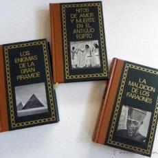 Libros de segunda mano: LIBROS LOS ENIGMAS DE LA GRAN PIRÁMIDE MALDICIÓN LOS FARAONES RITOS EN ANTIGUO EGIPTO LIBRO HISTORIA. Lote 53040331
