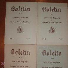 Libros de segunda mano: AÑO 2 COMPLETO, DEL BOLETIN DE LA ASOCIACION ESPAÑOLA DE AMIGOS DE LOS CASTILLOS. 4 EJEMPLARES. Lote 54393635