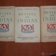 Libros de segunda mano: REVISTA DE INDIAS. AÑO 1958 COMPLETO. SUMARIO FOTOGRAFIADO.. Lote 54572404