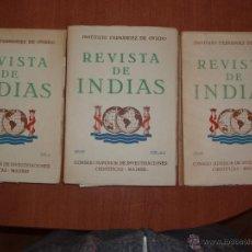 Libros de segunda mano: REVISTA DE INDIAS. AÑO 1953 COMPLETO. SUMARIO FOTOGRAFIADO.. Lote 54572449