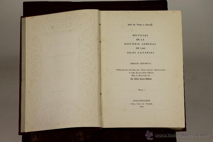 7215 - HISTORIA GENERAL DE CANARIAS. TOMOS 1, 2, 3(VER DESCRIP). EDI. GOYA. 1950-52. (Libros de Segunda Mano - Historia Antigua)