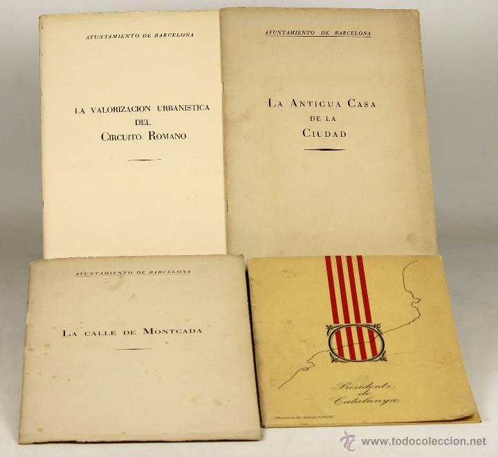 7229 - LOTE DE 4 EJEMPLARES AYUNTAMIENTO DE BARCELONA(VER DESCRIP). 1959-1978. (Libros de Segunda Mano - Historia Antigua)