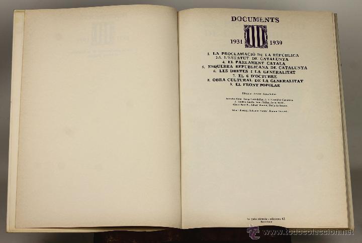 7178 - DOCUMENTS 1931-1939. TOMOS 1 Y 2(VER DESCRIP). ANNA SALLÉS. EDI. 62. 1976-1977. (Libros de Segunda Mano - Historia Antigua)