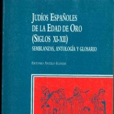 Libros de segunda mano: JUDIOS ESPAÑOLES DE LA EDAD DE ORO(S. XI-XII) ANTONIO ANTELO. FUND. AMIGOS DE SEFARAD, 1991. Lote 55011930