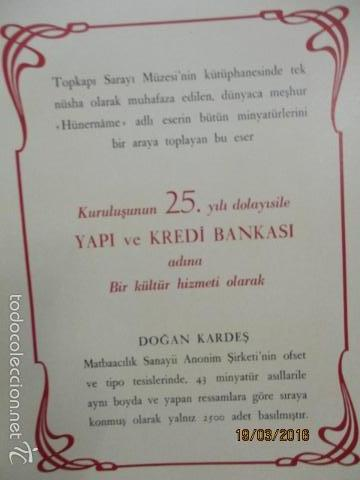 Libros de segunda mano: Espectacular libro de la historia de los Sultanes de 47 cm x 33,5 cm. (en turco - ver fotos) 1969 - Foto 12 - 55226079