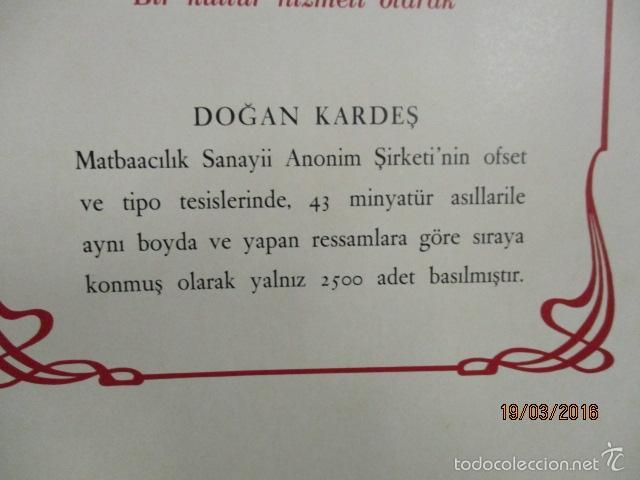 Libros de segunda mano: Espectacular libro de la historia de los Sultanes de 47 cm x 33,5 cm. (en turco - ver fotos) 1969 - Foto 13 - 55226079