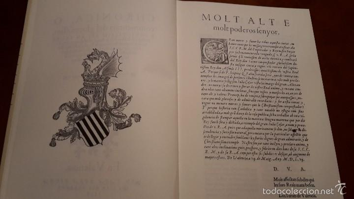 Libros de segunda mano: CHRONICA, O COMMENTARI DEL GLORIOFIFFIM, REY EN JACME.FACSIMIL1994 ALGEMESI. - Foto 3 - 56119687