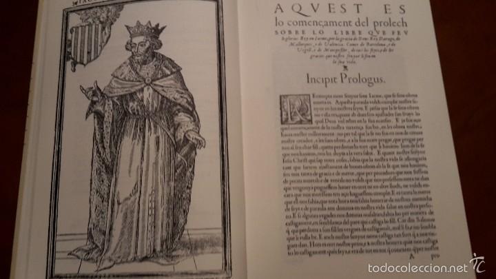 Libros de segunda mano: CHRONICA, O COMMENTARI DEL GLORIOFIFFIM, REY EN JACME.FACSIMIL1994 ALGEMESI. - Foto 4 - 56119687